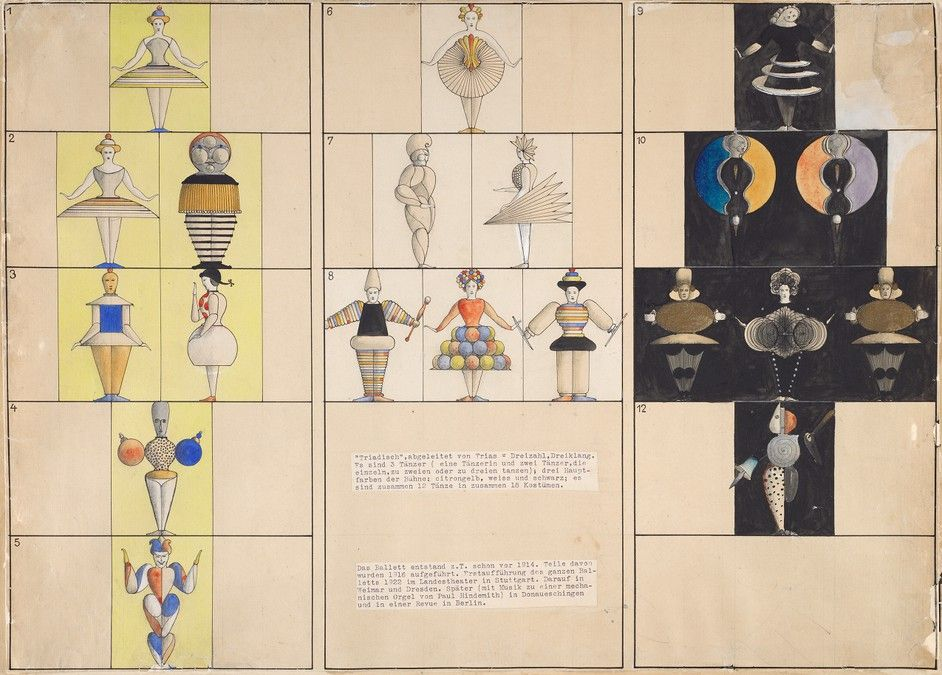 The Triadic Ballet-experimental ballet by Oskar Schlemmer